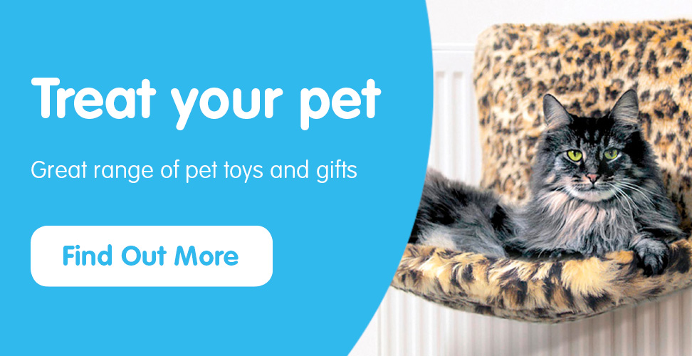 Great range of pet toys and gifts